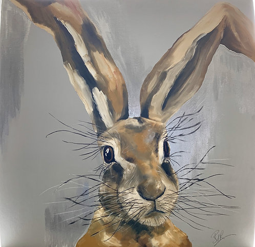 hare with gold/silver leaf