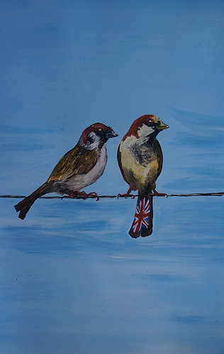 2 Sparrows on a line