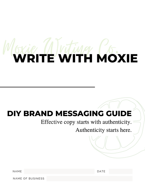 DIY Brand Messaging Guide