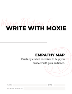 Cover of the Write With Moxie Empathy Map