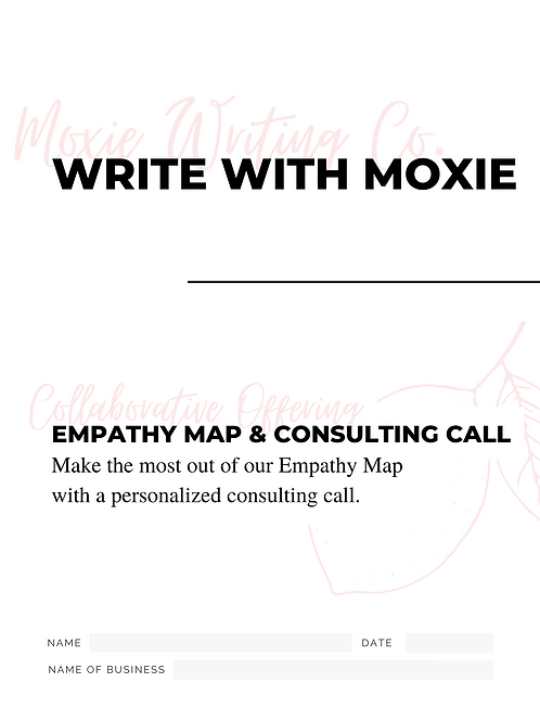Empathy Map + Consulting Call