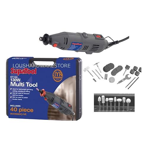 SupaTool Multi Tool Grinding Drilling Sanding Milling + 40pcs accessory set