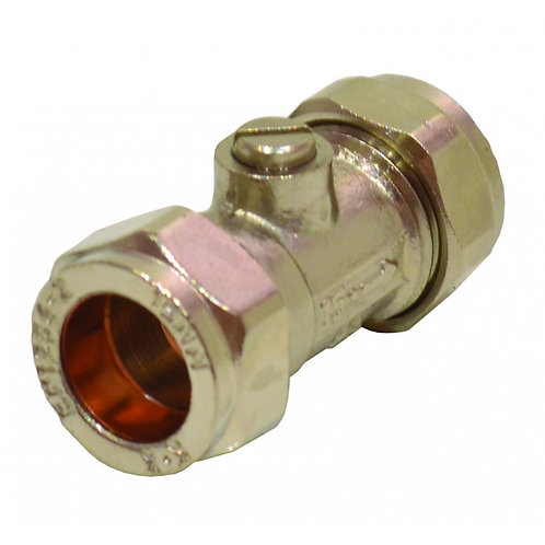 15mm CP CXC Screw Type Isolating Valve