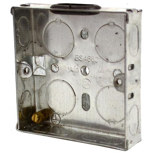 1 Gang 16mm Deep Galvanised Steel Box