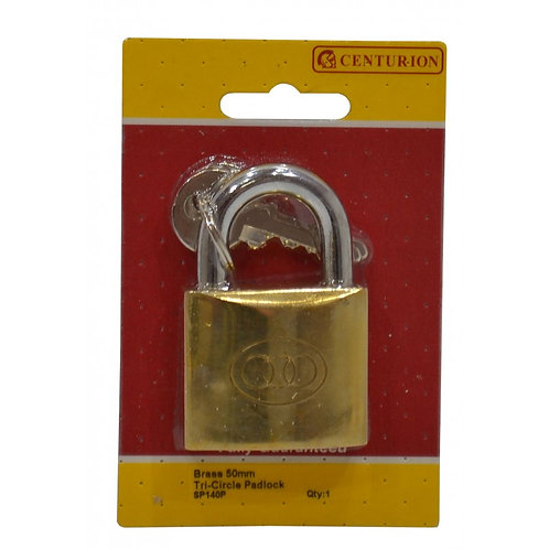 50mm Brass Tri-Circle Padlock