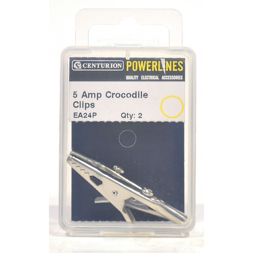 5 Amp Crocodile Clips (Pack of 2)