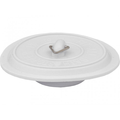 """Plug - Sink Bath - White - 1 1/2"""" - 2"""" PVC Universal"""