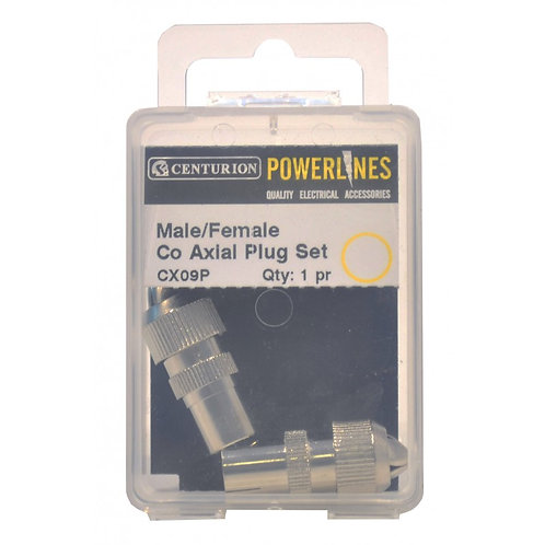 Male/Female Co Axial Plug Set