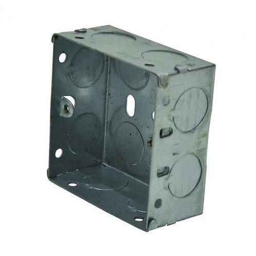1 Gang 35mm Deep Galvanised Steel Box