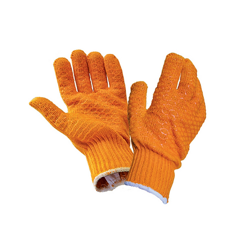 Scan Gripper Gloves with PVC Webbing - Large