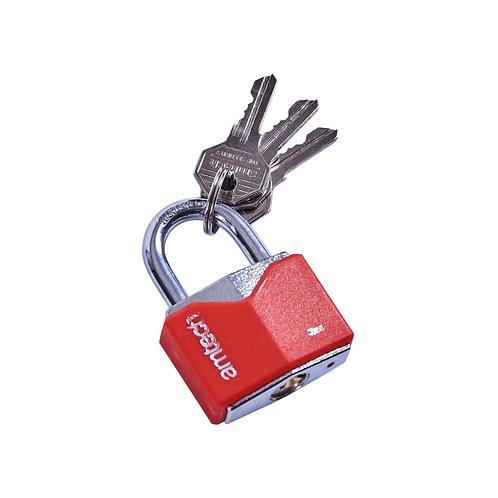 Amtech 40mm rhombic chrome plated iron padlock