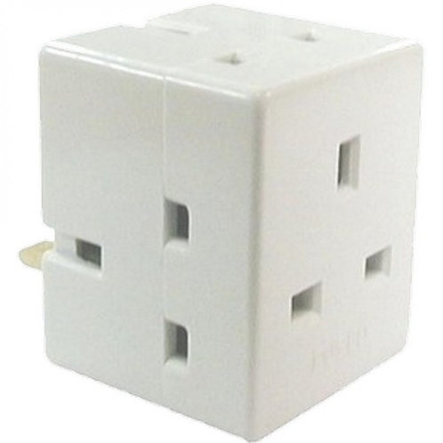 13 Amp 3 Way Fused Adaptor
