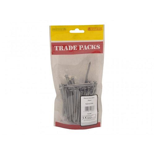 Bright Round Wire Nails - Steel - 75mm (500g)