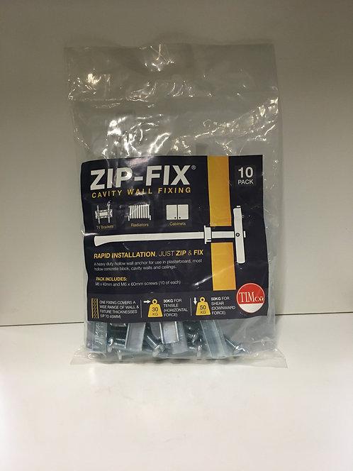 Zip-Fix Cavity Wall Fixings - Zinc M6 10Pck