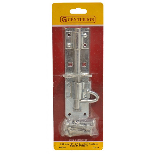 "150mm (6"") ZP Brenton Padlock Bolt 2A Pattern"
