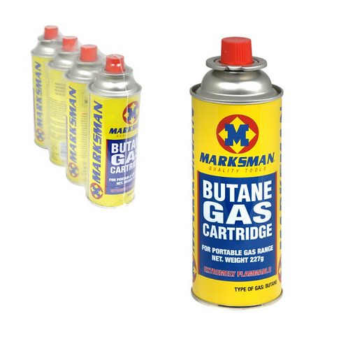 Marksman 227g Butane Gas Refill x 4 tins