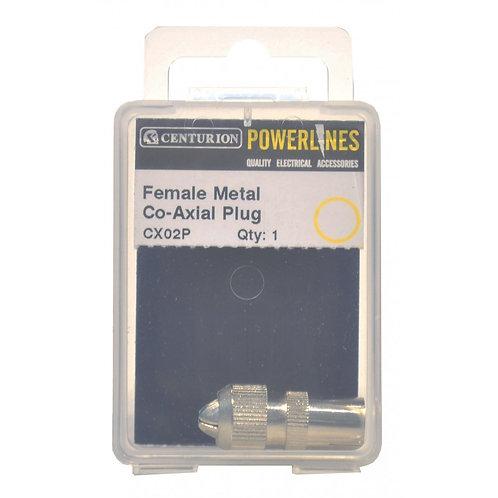 Female Metal Co-Axial Plug