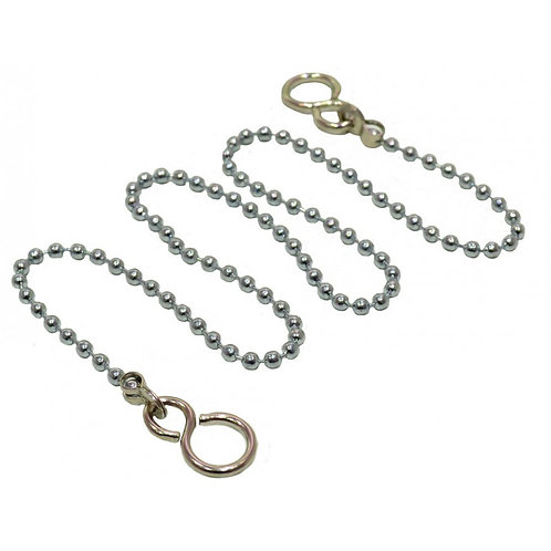 "12"" Chrome Basin Chain With Hooks"