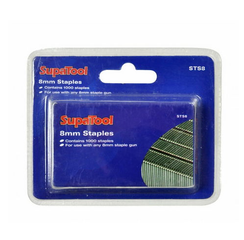 SupaTool Staples 8mm 1000 Pcs