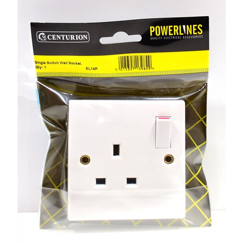 13 Amp 1 Gang Switched Wall Socket