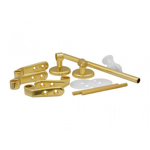 Polished Brass Bar Type Toilet Seat Hinges