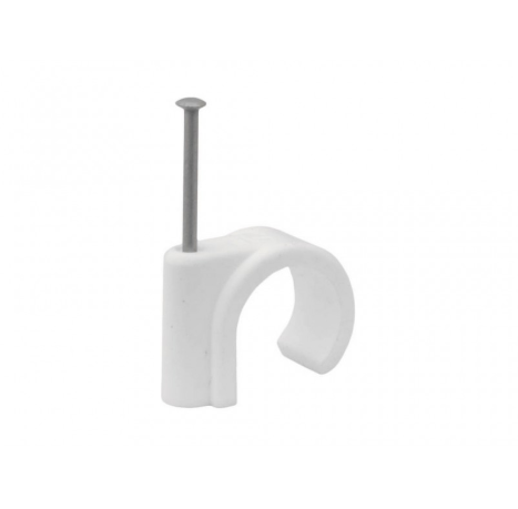 15mm Plastic Nail In Pipe Clips (Pack of 5)