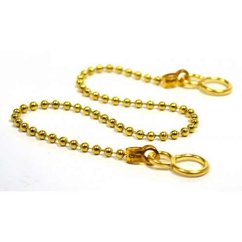 """12"""" Brass Basin Chain With Hooks"""