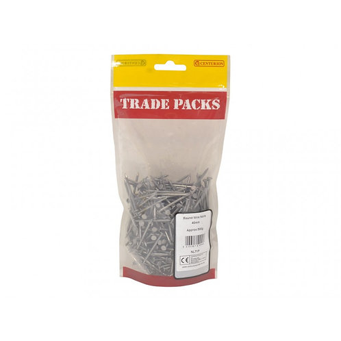 Round Wire Nails - Steel - 40mm (500g)