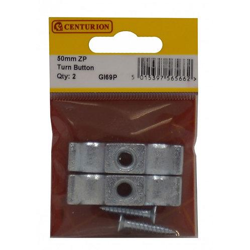 50mm ZP Turn Button 2pk