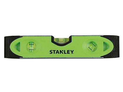 Stanley 220mm Hi-Visibility Green Torpedo Spirit Level Magnetic Base