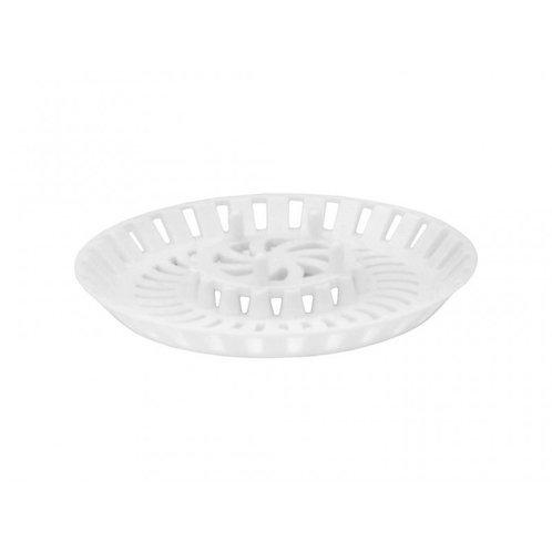 80mm White Plastic Bath/Shower Strainer