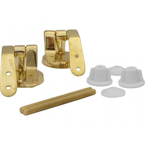 Polished Brass Pillar Type Toilet Seat Hinges