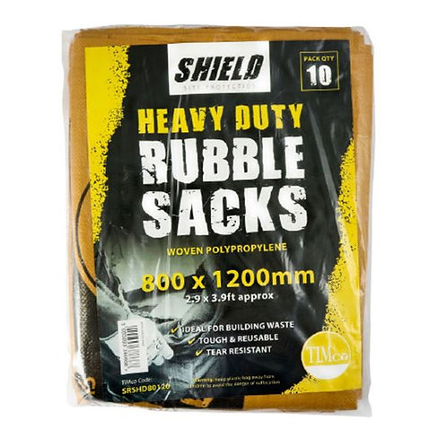 Shield Rubble Sacks - Heavy Duty - 60 x 90cm - 10pcs