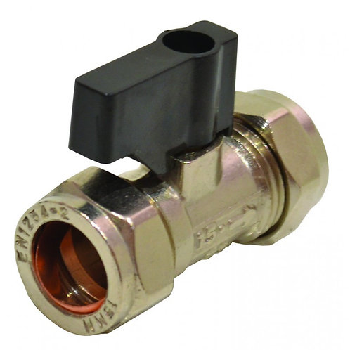 15mm Chrome Isolating Valve with Lever