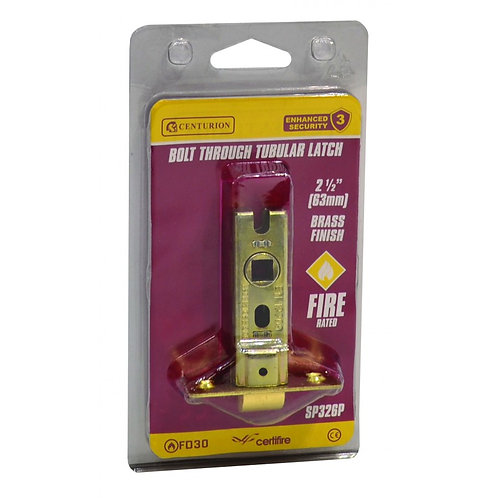 63mm EB Bolt Through Tubular Latch CE Fire Rated