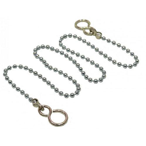 "18"" Chrome Basin Chain With Hooks"