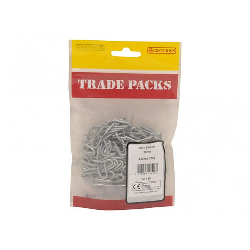 Staples - Galvanised - 20mm (250g)