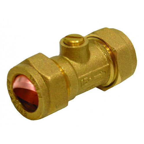 15mm Brass Isolating Value