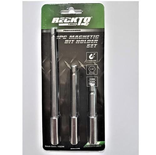 RECKTO 3pcs Magnetic Bit Holder Set