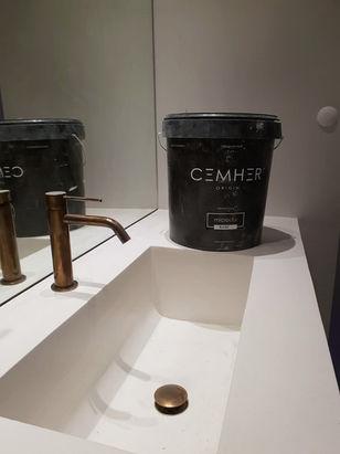 Microcement Sink & Countertop Escorial