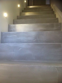 Microcement Stairs Grafeno