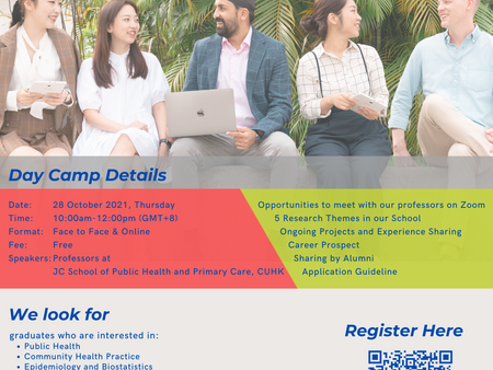2nd (Online) Day Camp for Introducing Public Health Research Postgraduate Programmes & HKPFS Scheme