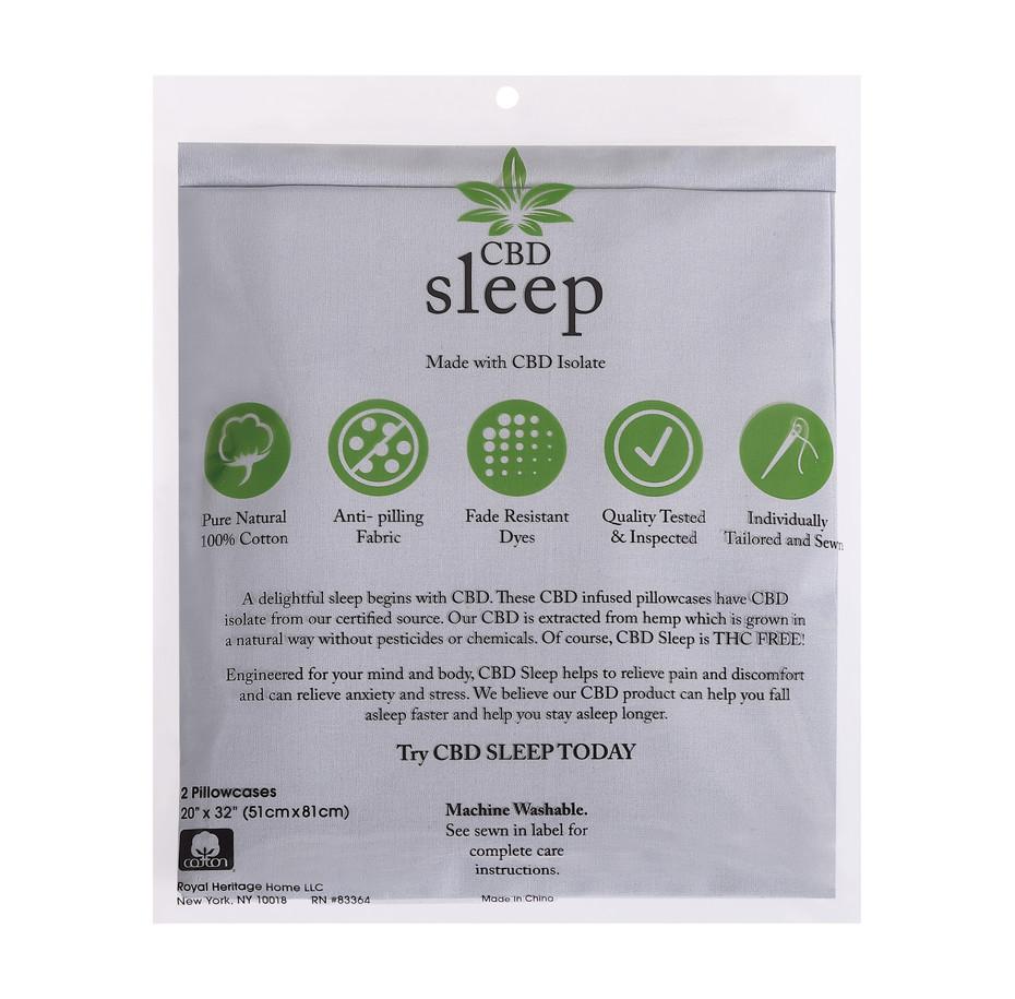 CBD-Infused Grey Pillowcases