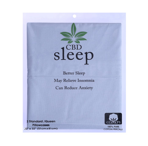 CBD-Infused Blue Pillowcases