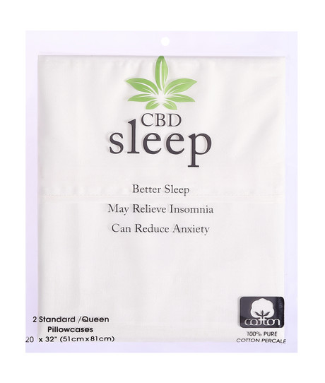 CBD-Infused White Pillowcases