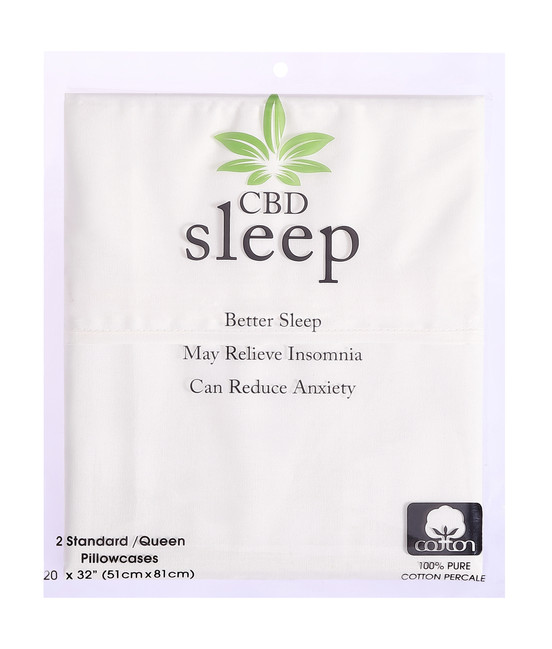 CBD-Infused White Pillowcases