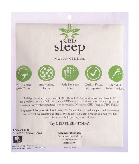 CBD-Infused Ivory Pillowcases
