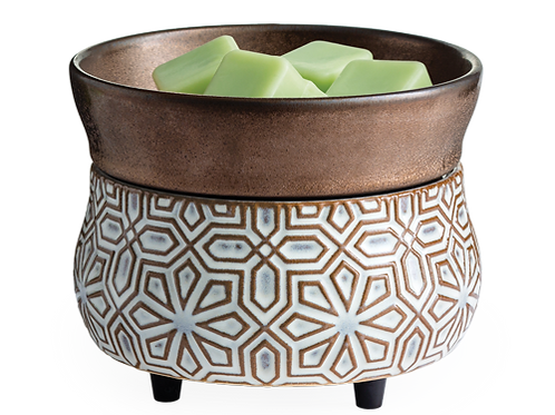 Bronze Geometric 2-in-1 Classic Fragrance Warmer