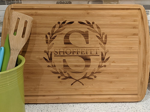 Large Bamboo Grooved Board
