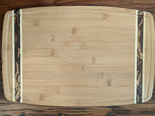 Large Bamboo Grooved Board - Marbled